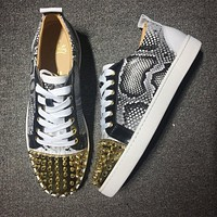 Christian Louboutin CL Low Style #2002 Sneakers Fashion Shoes Online