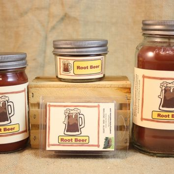 Root Beer Candle and Wax Melts, Beverage Scent Candle, Highly Scented Candles and Wax Tarts, Mason Jar Candle, Great Summertime Candle