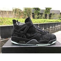 KAWS x Air Jordan 4 Black Basketball Shoes 36-47