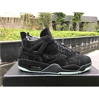 KAWS x Air Jordan 4 Black Basketball Shoes 40-47