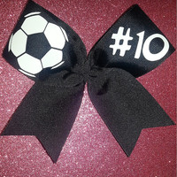 Soccer Bow by ThingsToCheerAbout on Etsy