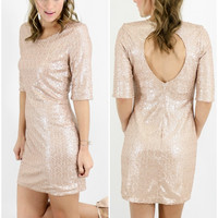 Birmingham Bella Ball Blush Champagne Sequin Dress