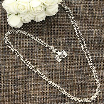 Camera 15x14mm Silver Necklace