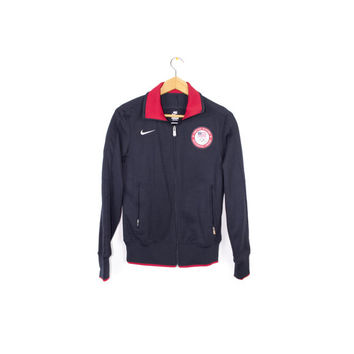 NIKE USA OLYMPIC team n98 track jacket - navy blue + red - medium