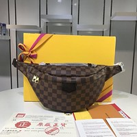 LV Louis Vuitton OFFICE QUALITY DAMIER EBENE CANVAS BUMBAG WAIST PACK CROSS BODY BAG