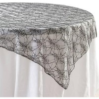 "58"" Spider Net Table Overlay Halloween Decoration - Walmart.com"