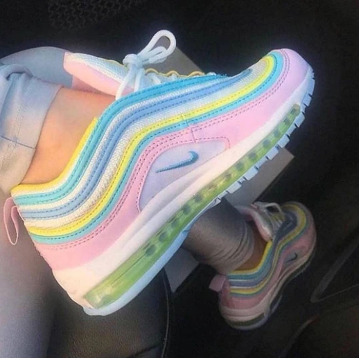 Image of NIKE fashionable new women stitching color air cushion sneakers