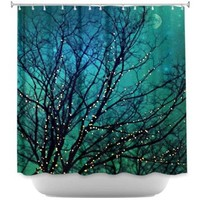 DiaNoche Designs Shower Curtains by Sylvia Cook Stylish, Decorative, Unique, Cool, Fun, Funky Bathroom - Magical Night