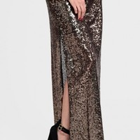 Into The Night Sequin Maxi Skirt