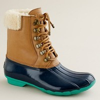 Women's shoes - weather boots - Sperry Top-Sider?- short Shearwater boots - J.Crew
