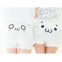 Kawaii Face Cotton Bloomer With Elastic Free Ship SP141247 from SpreePicky