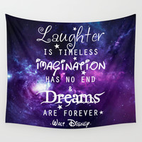 Quote Wall Tapestry by Keelin Small