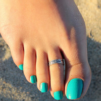 Abstract Vintage Toe Ring