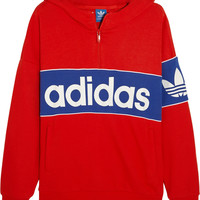 adidas Originals - City London cotton-blend terry hooded top