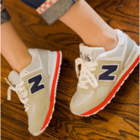 """New balance""Fashionable Women/Men comfortable leisure sports shoes Grey"