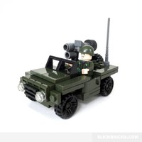 Army Command Jeep - Lego Compatible Toy