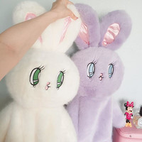 2017 Plush Rabbit Backpack for Women Cute Bunny Backpacks for Teenage Girls Lolita Doll Kawaii Backpack mochilas femininas L748