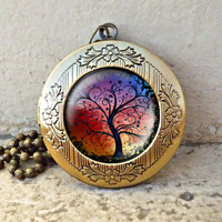 Tree Of Life Necklace Tree Necklace, Pendant Charm , Woodland vintage pendant locket necklace - ready for gifting - buy 3 get 4th one free