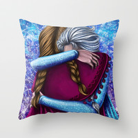 Anna and Elsa ~Frozen Throw Pillow by Kimberly Castello