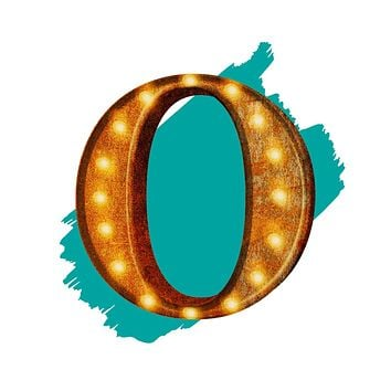 "24"" Letter O Lighted Vintage Marquee Letters (Rustic)"