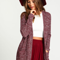 Speckled Chunky Knit Cardigan