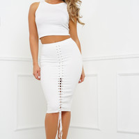 Knot Today Skirt - White