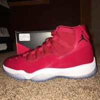 ONETOW Air Jordan 11 Retro ¡°Win It Like ¡®96¡± Size 8.5 Gym Red/black-white