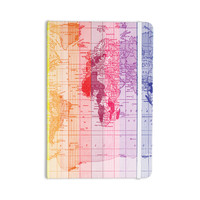 "Catherine Holcombe ""Rainbow World Map"" Multicolor Travel Everything Notebook"
