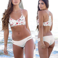 New Arrival Hot Summer Beach Swimsuit Sexy Swimwear Floral Print Hollow Out Bikini [11692850127]