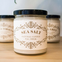 French Apothecary 9oz Candle Sea Salt