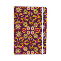 """Jane Smith """"Indian Jewelry Floral"""" Purple Gold Everything Notebook"""