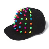Neon Spikes Baseball Cap  | Claire's