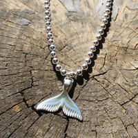 Mermaid Necklace - Fish Necklace, Sterling Silver Mermaid Necklace, Fish Jewelry, Mermaid Jewelry, Aqua Necklace, Pisces Necklace