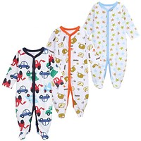 3 PCS/LOT Baby Boy Clothes Comfortable Baby Rompers Winter Thick Climbing Clothes born 0-12 M Baby Clothes Unisex