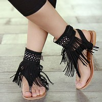 Fabulous Fringed Sandals