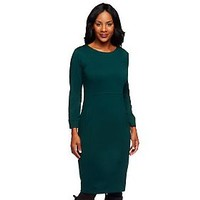 Linea by Louis DellOlio Knit Dress with Pocket Detail — QVC.com