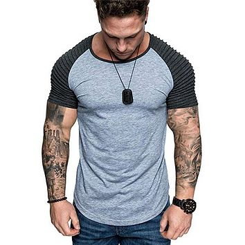 Mens Casual O-Neck Sport T-Shirt Shirt Top Tee