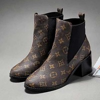 LV Louis Vuitton Women Casual Heels Shoes Boots
