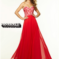 Sweetheart Chiffon Flowing A-line Paparazzi Prom Dress By Mori Lee 97109