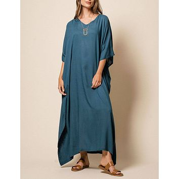 Zuri Full Kaftan - Teal