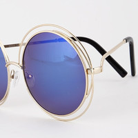 Round Detail Framed Sunglasses ( + Colors )