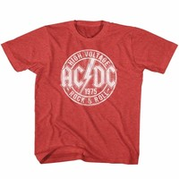 ACDC-R&R-VINTAGE RED TODDLER S/S TSHIRT