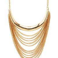 Draped Chain Collar Necklace by Charlotte Russe