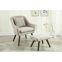 Modern Leisure Chair With Ottoman
