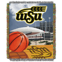 "Wichita State College """"Home Field Advantage"""" 48x60 Tapestry Throw"