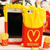 Silicone Case French Fries For iPhone 6/6 Plus