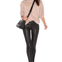 T by Alexander Wang French Terry Sweatshirt in Sandstone