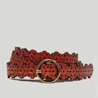 AEO Floral Leather Belt | American Eagle Outfitters