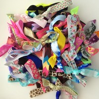 25 Assorted Hair Tie Ponytail Holder Collection by Elastic Hair Bandz