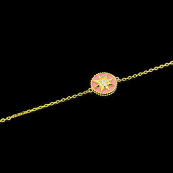 BeadyBoutique Lucky Star Jewelry Collection Bracelet - Pink